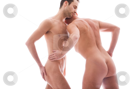 2 men care stock photo, Artistic nude forms with 2 powerfull men by Frenk and Danielle Kaufmann