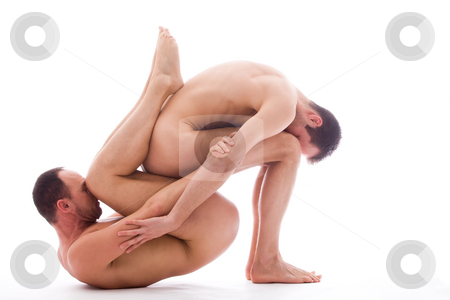 Sttting on you stock photo, Artistic nude forms with 2 powerfull men by Frenk and Danielle Kaufmann