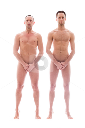 2 men standing stock photo, Artistic nude forms with 2 powerfull men by Frenk and Danielle Kaufmann