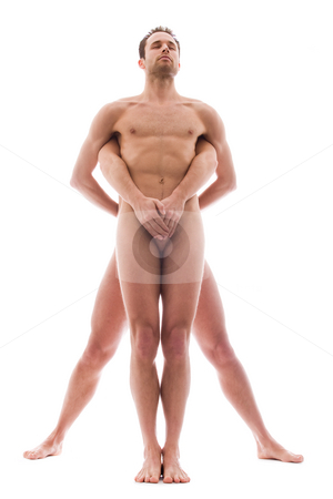 Strong 2 men stock photo, Artistic nude forms with 2 powerfull men by Frenk and Danielle Kaufmann