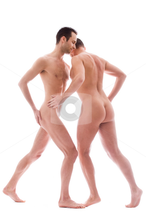 2 men dance stock photo, Artistic nude forms with 2 powerfull men by Frenk and Danielle Kaufmann