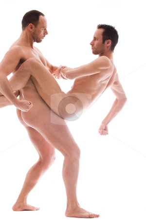 Big strong men stock photo, Artistic nude forms with 2 powerfull men by Frenk and Danielle Kaufmann