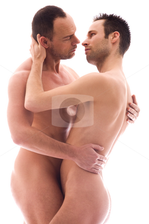 Erotic men couple stock photo, Artistic nude forms with 2 powerfull men by Frenk and Danielle Kaufmann