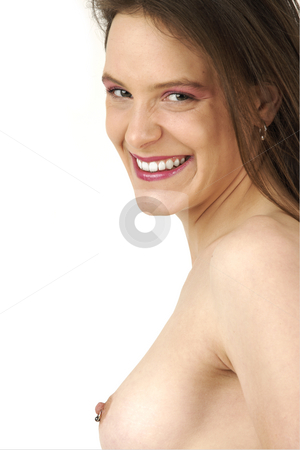 Nude girl stock photo, Young girl shows nice nipple peircing by Tom P.